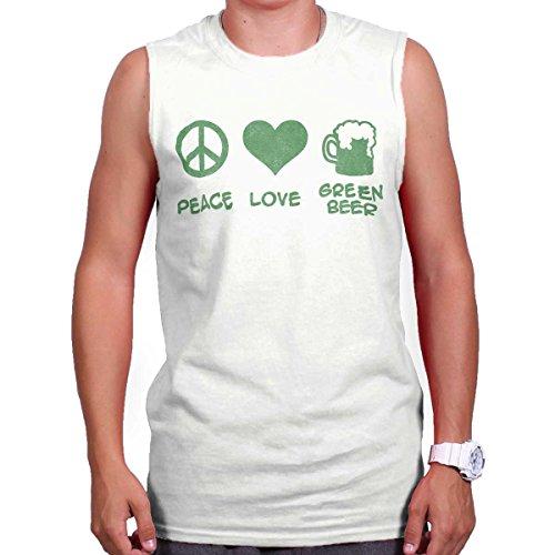 Peace Love Green Beer St Patricks Day Shirt Patty Funny Irish Sleeveless Tee