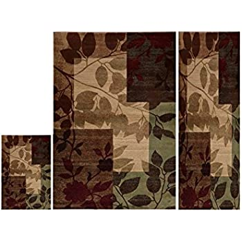 Home Dynamix HD5282 Tribeca Collection 3 Piece Area Rug Set Living Room Decor