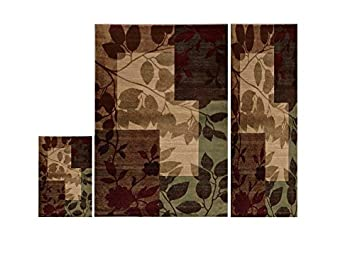 Home Dynamix HD5282 Tribeca Collection 3 Piece Area Rug Set, Living Room  Decor