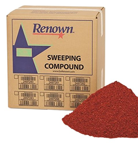 Renown REN04004 Sweeping Compound Oil Base, with Grit, 50 lb. Box, - Grit Compound Sweeping Oil Base