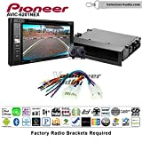 Volunteer Audio Pioneeer AVIC-6201NEX Double Din Radio Install Kit with GPS Navigation Apple CarPlay Android Auto Fits 2003-2009 Non Amplified Toyota Prius