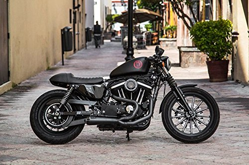 Two Brothers Sportster (2014-2017) Comp-S 2-1 Ceramic Black w/ Carbon Fiber