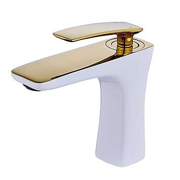 Robinet Vasque Mitigeur Lavabo Melangeur Salle de Bain Blanc