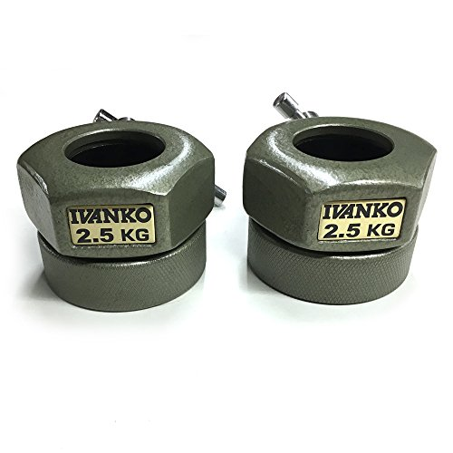 IVANKO (CO-2.5KG) Compression Ring Olympic Collars (PAIR) by Ivanko
