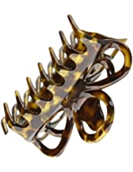 Caravan Appealing Open Design Hair Claw Decorated With A Hand Painted Honey Color