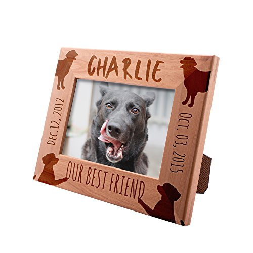 - Personalized Picture Frame 4x6 Pet Memorial for Dogs, Our Best Friend, Custom Engraved with Dog's Name & Years - Dog Owner Gift