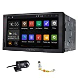 JOYING Quad Core 1024600 Resolution Automotive in Dash Universal Double Din Android 4.4.4 Tablet Car Stereo Radio Audio Head Unit GPS Navigation Support Bluetooth/wifi, with a Car DVR