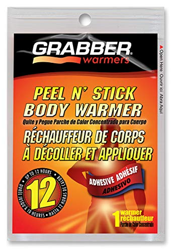 Grabber Heat Pads - Grabber 12 Hour Peel N' Stick Adhesive Body Warmers - 20 Piece Pack