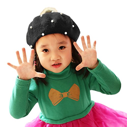 b986359f7f90e Galleon - 100% Wool French Beret Cap For Kids Girls Boys