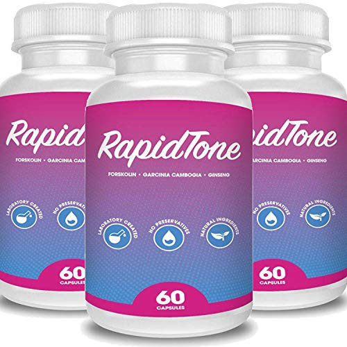 Rapid Tone Weight Loss Pills Supplement – Burn Fat Quicker – Carb Blocker, Appetite Suppressant, Fat Burner – Natural Thermogenic Extreme Diet Fast WeightLoss for Women Men (New 3 Month Supply) Review