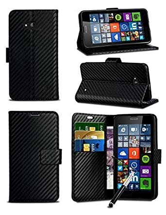 Amazon com: Other For Huawei Y336 - Black Textured Carbon Fibre