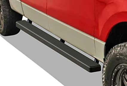 APS iBoard Running Boards 5 inches Custom Fit 2004-2008 Ford F150 SuperCrew Cab Pickup 4-Door Exclude 04 Heritage Edition Nerf Bars Side Steps Side Bars