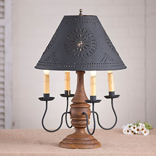 Jamestown Lamp in Hartford Mustard with Shade -