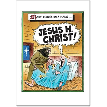 12 Jesus H Christ Boxed Christmas Cards With Envelopes 475 X 6625 Inch