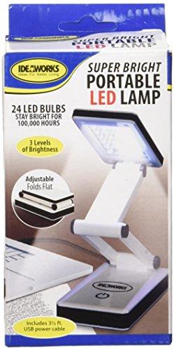 IdeaWorks Super Bright Portable LED Lamp, White - bedroomdesign.us