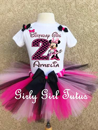 Minnie Mouse Personalized Birthday Outfit by Girli Girl Tutus