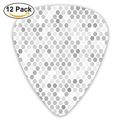 Newfood Ss Abstract Spotted Gradient Dots Background With Little Geometrical Guitar Picks 12/Pack Set -