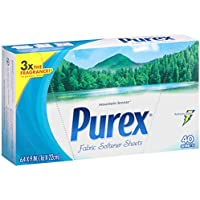 Purex Fabric Softener Dryer Sheets Mountain Breeze 40 Count