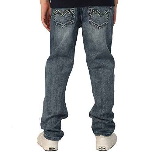 - Leo&Lily Boys' Kids' Elastic Waist Husky Stretch Denim Jean (Blue,12)