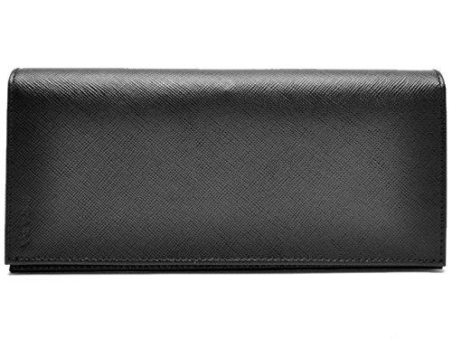 (プラダ) PRADA 財布 二つ折り メンズ ブラック レザー 2mv836saf1-nero ブランド [並行輸入品] B01HO2B5LE
