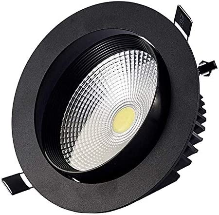 NOLOGO YBright Black LED 12W Spotlight Inclined Ceiling COB Downlight Directional LED Wall Washer Lamp 120° Beam Angle 6000K 4000K 3000KDrive for Shop Living Room Decoration