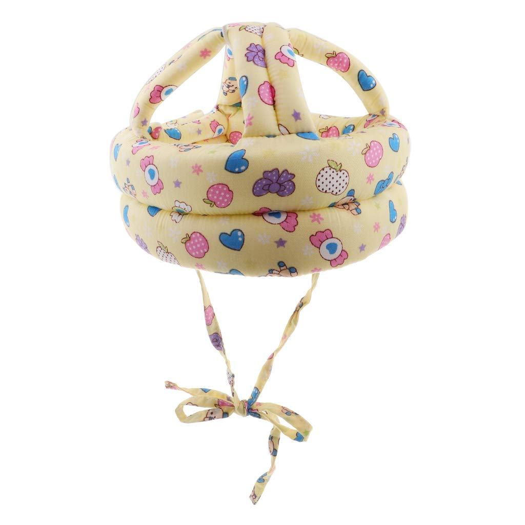 Prettyia Adjustable Safety Helmet Headguard Protective Harnesses Cap for Baby Children Infant Toddler, Learning to Crawl Walk Playing - Candy Pattern