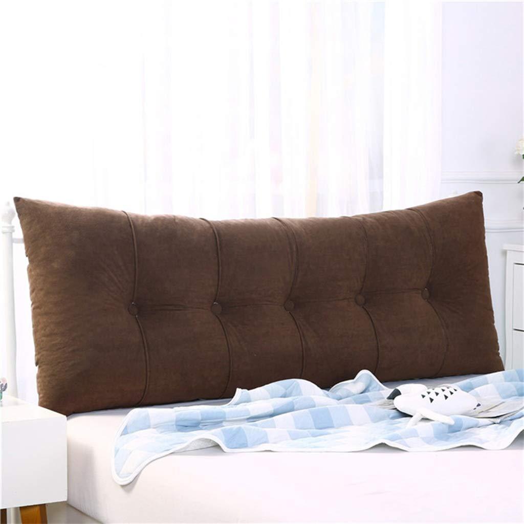 Color : A, Size : 60x60x20cm testiera di Lettura della testiera del Tessuto di Lino Che posiziona Cuscino con Federa Staccabile e Lavabile JTZR Cuscino di Colore Solido della Grande Gente Doppia