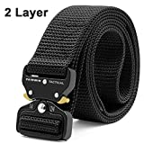"""Fairwin Tactical Gun Belts, 1.5"""" Heavy Duty Two Layer EDC Belt with Quick-Release"""