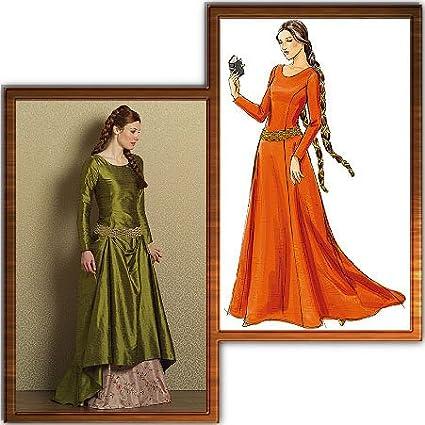 Amazon Butterick 60 Medieval Dress Pattern Amazing Medieval Dress Pattern