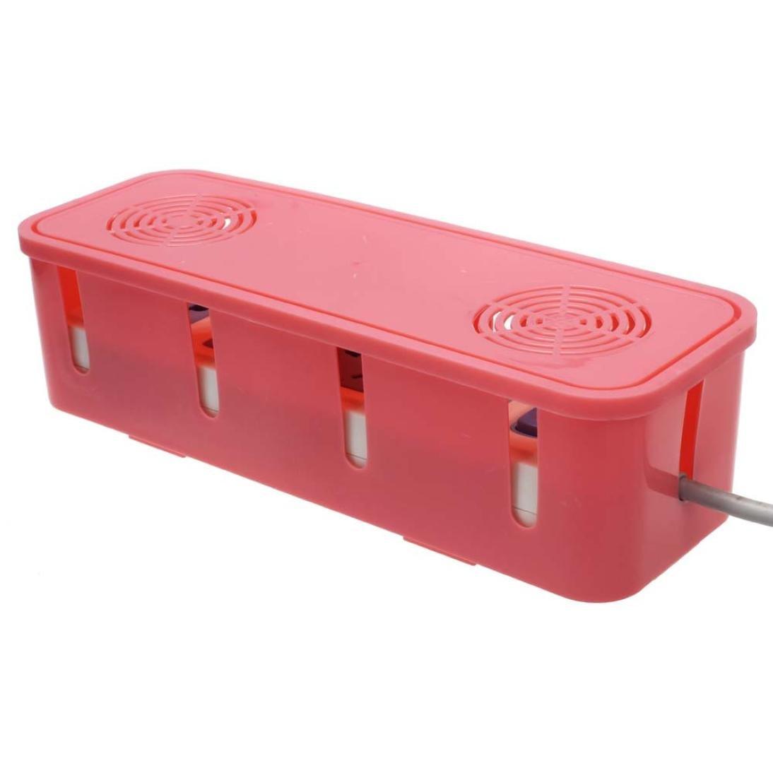 newkelly Cable de alimentación zócalo caja de almacenaje con refrigeración tira de agujero acabado caja: Amazon.es: Hogar