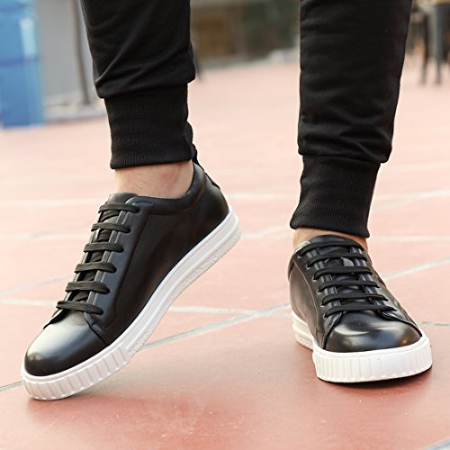 discount get authentic Minitoo Boy's Men's Lace-up Cap-Toe Athletic Outdoor Fashion Sneakers Black clearance top quality cheap sale nicekicks oSMAM0LU
