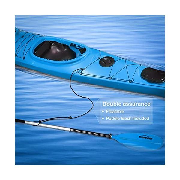 5141ZLghLLS OVERMONT Paddel Aluminium Doppelpaddel Paddel mit Verstellbaren Paddel-Blätter für Kanusport Kajakfahren Kanadier Boot…