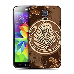 Head Case Designs Coffee Art Coffee Addict Replacement Battery Back Cover for Samsung Galaxy S5