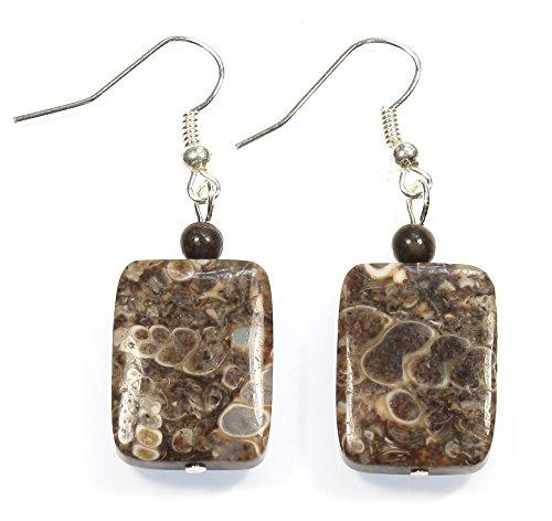 Earrings Stone Agate (