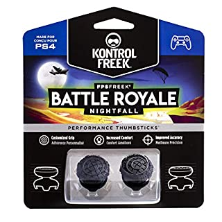 KontrolFreek FPS Freek Battle Royale Nightfall for PlayStation 4 (PS4) Controller | Performance Thumbsticks | 2 High-Rise Convex Black