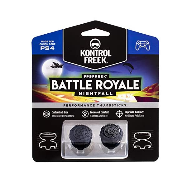 KontrolFreek FPS Freek Battle Royale Nightfall for PlayStation 4 (PS4) Controller | Performance Thumbsticks | 2 High… 1