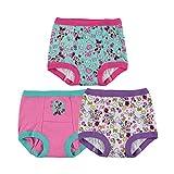 Disney Baby Girls' Toddler 3-Pack, Aqua-White-Pink, 2T: more info