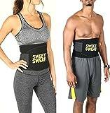 Rianz Sweat Waist Trimmer Belt Premium Waist Fat Burner Slimming Belt For Men & Women