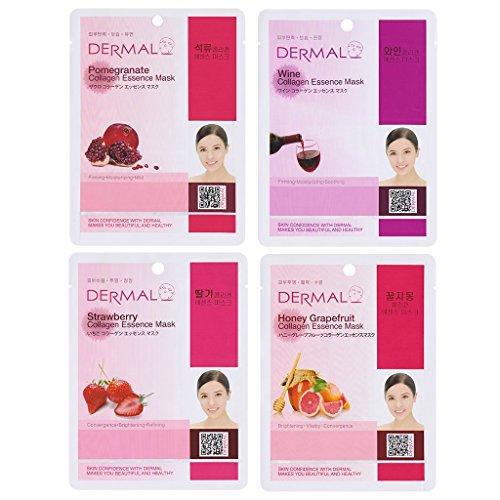 DERMAL Essence Face Sheet, 16 Combo Pack