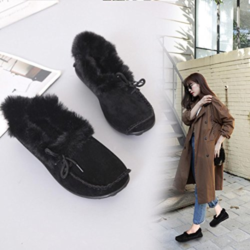 Flats Slip Nero Donna On Leisure Shoes Warm Shoes Work Casual Ladies Transer Lazy Mocassini wYOqt0