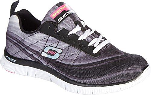 Skechers Womens Flex Appeal Pretty Please Cross Training Black/White 6.5 B(M...