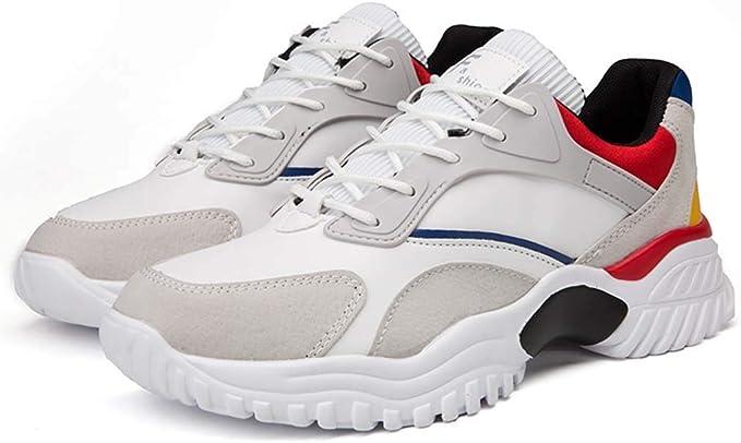 HRN Zapatillas de Deporte de Malla de Malla Zapatos Casuales de Suela Gruesa con Cabeza Redonda y Cordones cómodos Zapatillas para Correr Primavera y Verano Nuevas,A,40EU: Amazon.es: Deportes y aire libre