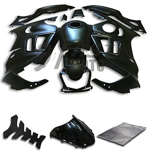 9FastMoto Fairings for honda 1997 1998 CBR600F3 CBR600F 97 98 CBR 600 F3 Motorcycle Fairing Kit ABS Injection Set Sportbike Cowls Panels (Black) H1042