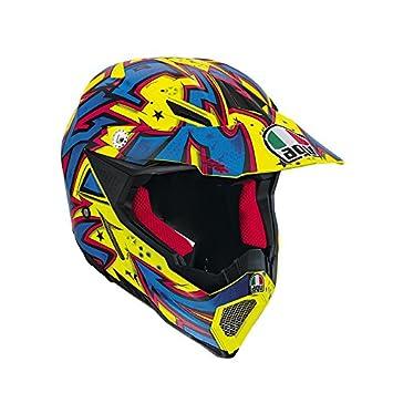 AGV Helmets Casco integral 8 EVO E2205, Multicolore (Spray Jaune/Bleu/Naranja