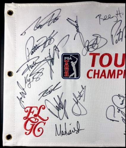 2018 Tour Championship Autographed Signed Field Flag Rory Mcilroy Rickie Fowler Autographed Pin Flags