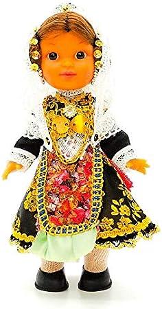 Amazon.es: Folk Artesanía Muñeca Regional colección de 25 cm con Vestido típico Salmantina Charra Salamanca España.: Juguetes y juegos