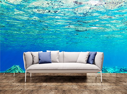 Wall Tapestries Art Underwater background of Aegean Sea Wall Print Wall Mural Wall Decal Wall Tapestry (Wall Murals Underwater)