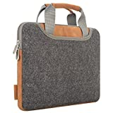Laptop Bag XIAO QIAO Hand Bag Carry Bag Tablet Bag Sleeve Case Cover with Handle for 15-15.6 Inch MacBook Air, MacBook Pro 2017/2016, iPad Pro, Dell HP, Asus, Acer, (Dark Gray)