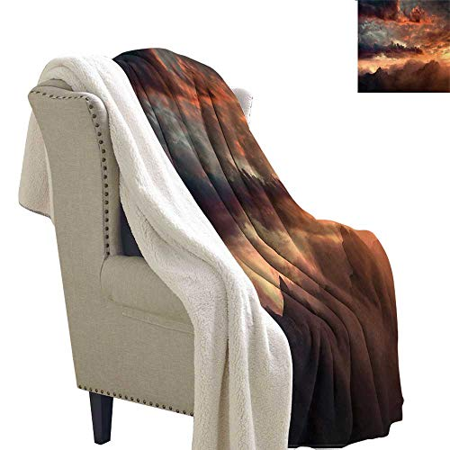 - Zodel Baby Blanket Clouds Sunset at Mountain Peaks Upgraded Thick Lazy Blanket Blanket W59 x L78