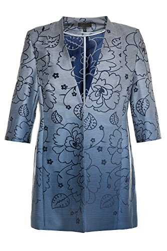 Popken Blu Ulla Giacca Ombre Jacquard Donne Not A Forget 714 Plus Me 584 Più Size drwrqY